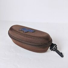 MAUI JIM - Sunglasses / Glasses Case - Brown Zip Around Hard - EXCELLENT w/Clip