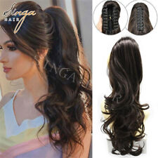 Natural Thick Jaw Claw Pony Tail Hair Piece Extensions Clip In Ponytail As Human