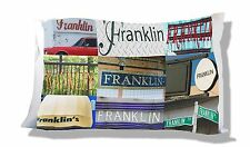 Personalized Pillowcase featuring the name FRANKLIN in photos of signs