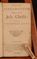 1773 Novum Testamentum Domini Nostri Jesu Christi Theodoro Beza Latin Calvinism