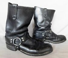 MENS DOUBLE H BLACK LEATHER MOTORCYCLE ENGINEER BUCKLE BOOTS US SIZE 11