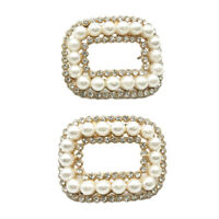 Women Shoes Clips High Heel Decoration Pearl Rhinestone Charms Clips Buckle