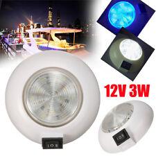 12V 3W LED Blue White RV Car Trailer Boat Caravan Interior Ceiling Dome Light