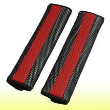 Car Truck Red Black Seat Belt Cover Shoulder Meshy Pad Pair Unique Bargains