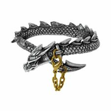 Alchemy Gothic Dragon's Lure Bangle Pewter Bracelet BRAND NEW
