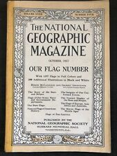 National Geographic October 1917 Flag of US Army Navy States History Asia...