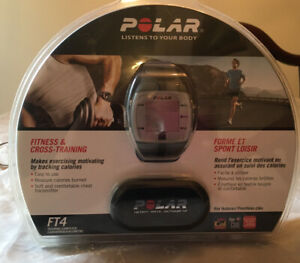 Polar FT4 Heart Rate Monitor Watch Wearlink Brand New Factory Sealed