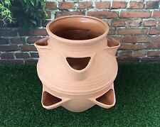 Multi Garden Planter Terracotta Effect / Perfect For Herbs Strawberries & Flower