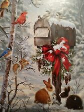 Leanin Tree Christmas Card Set Bunny Rabbits 10Pk Buy It Now In My Ebay Store