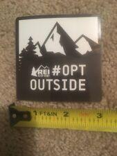 """REI co-op Decal Sticker #OPTOUTSIDE 3""""X3"""""""