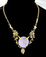 Kirk's Folly Crystal Dream Angel Cherub Face Necklace Rare Retired Piece JVJ304