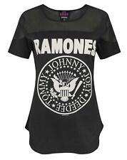 Amplified Ramones Seal Logo Women's Sheer Panel T-Shirt