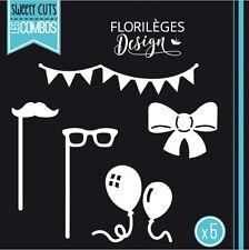 Florilèges Design formes de découpe EN FÊTE scrapbooking dies page party noeud