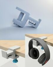 Headphone Hook Holder Hanger Mount Desk Mount - Built in Cable Organizer Marble