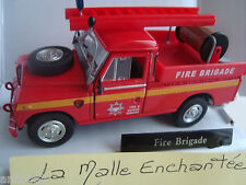 miniatura Land Rover serie 2 Fire Brigade bomberos 1/43 nueva en caja cararama