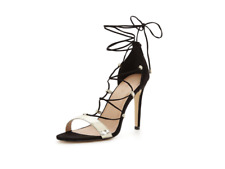 V by Very Lacey Gold Strappy Heeled Sandal - BLACK UK 8 EU 42 JS51 58