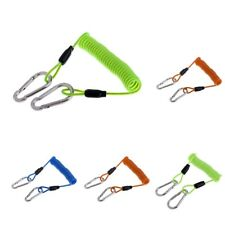 New listing Underwater Diving Snappy Elastic Quick Release Spring Coil Lanyard w/Clips