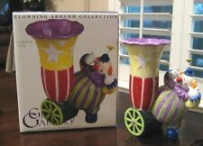 """Fitz & Floyd Gift Gallery """"Clowning Around Collection"""" Cannon Vase ~ Nib 00004000"""