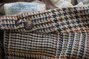 Lesley & Roberts Savile Row Bespoke Multicolor Houndstooth Tweed Sport Coat 46R