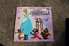 DISNEY'S VINTAGE 1960'S CINDERELLA THE STORY AND THE SONGS RECORD LP BOOK 3908