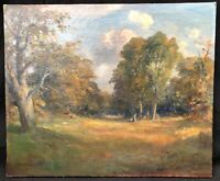 19th Century British Landscape Oil Painting on canvas by W R WALCOTT
