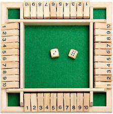 Shut the Box  Würfelspiel Klappenspiel Brettspiel Spiel aus Holz Klappbrett Neu
