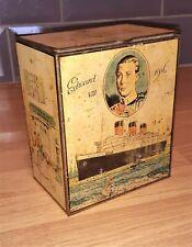 More details for very rare king edward viii ridgways tea centenary tin caddy 1836-1936,
