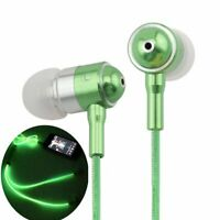 LightingCool EL-009-G Visible Glowing LED in-Ear Earphone Light Up Stereo