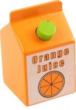 Dînette brique de jus d'orange en bois pour marchande- Epicerie- Jouet en bois**