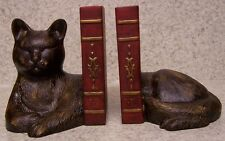 Bookends Animal Cat Napping Pair Book Ends NEW