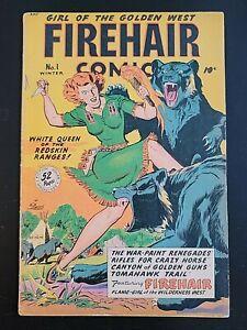 FIREHAIR COMICS #1, Lubbers-c, Elias-a, Mid-Grade, Fiction House (1948)