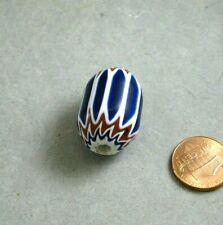 Vintage Glass 6 layer Chevron Bead Venetian 19x29mm