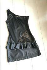 ZARA Sequin & Leather Look Mini Dress / Black / Size XS / Worn once! RRP £49.99