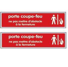 2X NOVAP Plaque Signalétique Plexiglas Porte Coupe Feu Rouge  *NEUF*