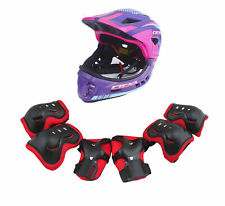 CIGNA Kids Cycling Bike Convertible Helmet Purple S-size w/Red protective pads