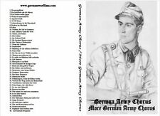 2 CD SET:  GERMAN ARMY CHORUS  +  MORE GERMAN ARMY CHORUS  +  ERIKA