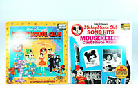 LOT OF 2 Mickey Mouse and Other Mouseketeer Favorites | Vinyl LPs | G+