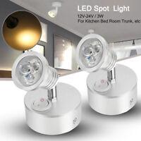 2x 12V 24V LED Wall Light Spotlight Bedside Caravan Boat Reading Lamp Warm White