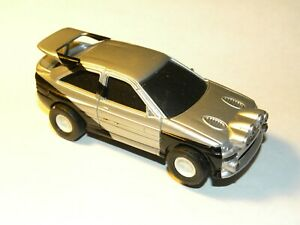 1:43 Scale MITSUBISHI RALLY CAR Slot Car / Running Chassis ( Silver ) Lighted!
