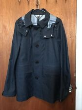 Burberry Navy Water Resistant Raincoat