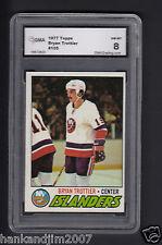 Bryan Trottier 1977-78 Topps Hockey Rookie Card #105 Islanders Graded GMA 8 NMMT