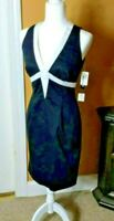 Muse Womens Dress size 4 Black and White Sleeveless career zipper