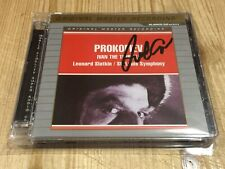 Signed by LEONARD SLATKIN Prokofiev Ivan The Terrible MFSL UDSACD 4003 Signiert