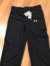 C11-3 Nouveau Under Armour pour garçon Blanc Baseball Pantalon Loose Fit HeatGear SZ Youth L