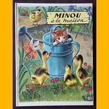 Collection Premières Belles Lectures MINOU À LA MAISON Janivon 1964