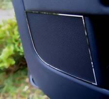 D VW Golf 5 Plus Chrome Cadre Pour türlautsprecher avant majuscules en acier inoxydable poli