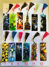 200 x 3 D Lenticular Assorted Bookmarks With Long Tassel Gift