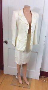 ANN TAYLOR Linen Skirt Suit Womens 6