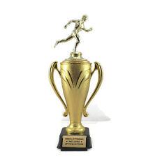 Track Trophy, Male-  Runner- Race- Running- Dash- 5K- Custom- Free Lettering