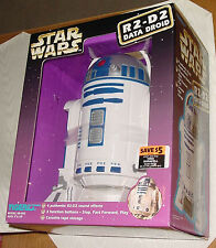 STAR WARS R2-D2 DATA DROID  CASSETTE TAPE PLAYER AND STORAGE - TIGER ELECTRONICS